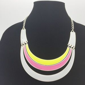 Rainbow Bib Statement Necklace L02